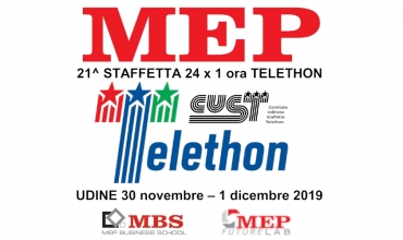 TELETHON 2019 - MEP READY TO TAKE PART IN THE RELAY 24X1H - UDINE 2019