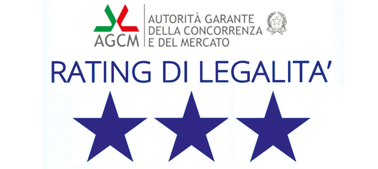 Rating legalità 3 stelle